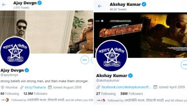 Akshay Kumar, Ajay Devgn, Varun Dhawan Change their Display Picture on Twitter as a Tribute to Maharashtra Police