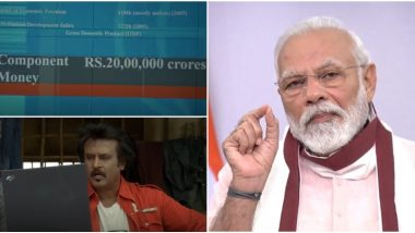Did Rajinikanth Predict PM Narendra Modi's Rs 20 Lakh Crore Relief Package Way Back in 2007? This Viral Clip From Sivaji Would Make You Believe So! (Watch Video)