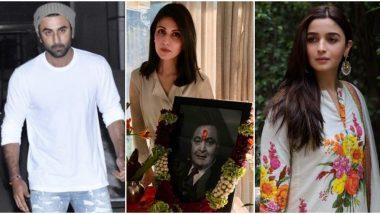 Alia Bhatt Joins Ranbir Kapoor and Family For Rishi Kapoor's Prayer Meet (View Pics)