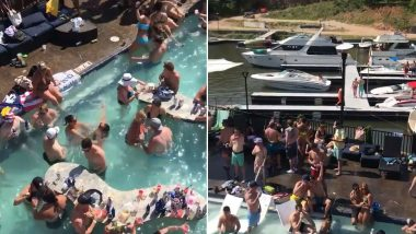 Memorial Day 2020 Packed Pool Party at Lake of the Ozarks in Missouri Defy Social Distancing Rules, Netizens Aren't Impressed (Watch Video)