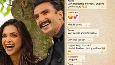 Deepika Padukone Shares Whatsapp Family Group Screenshot and It Is All About Showering Love on Ranveer Singh