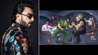 Ranveer Singh's Khilji From Padmaavat Is Hanging Out With Mogambo, Crime Master Gogo, Gabbar In This Art Work Shared By The Actor