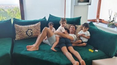 Cristiano Ronaldo Spends Quality Time With his Kids in Turin Amid 14 Day Isolation (See Pic)