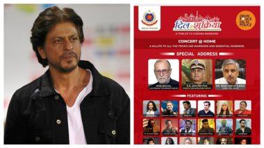 Shah Rukh Khan Promotes Delhi Police's 'Dil Se Shukriya' Virtual Concert; Kailash Kher, Yo Yo Honey Singh To Perform (Read Tweet)