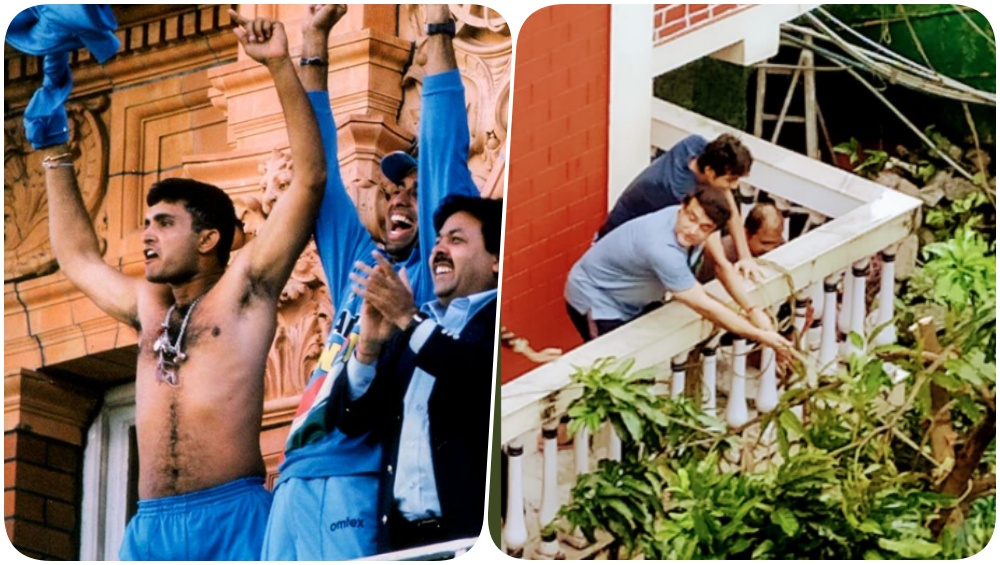 Sourav Ganguly Fixes Mango Tree Amid Amphan Cyclone, Netizens Say, 'Another Balcony Another Show' While Recalling 2002 NatWest Final