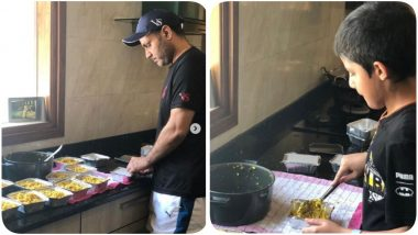 Virender Sehwag Extends Helping Hand to Migrant Workers, Prepares Meals Alongside Family (See Pics)
