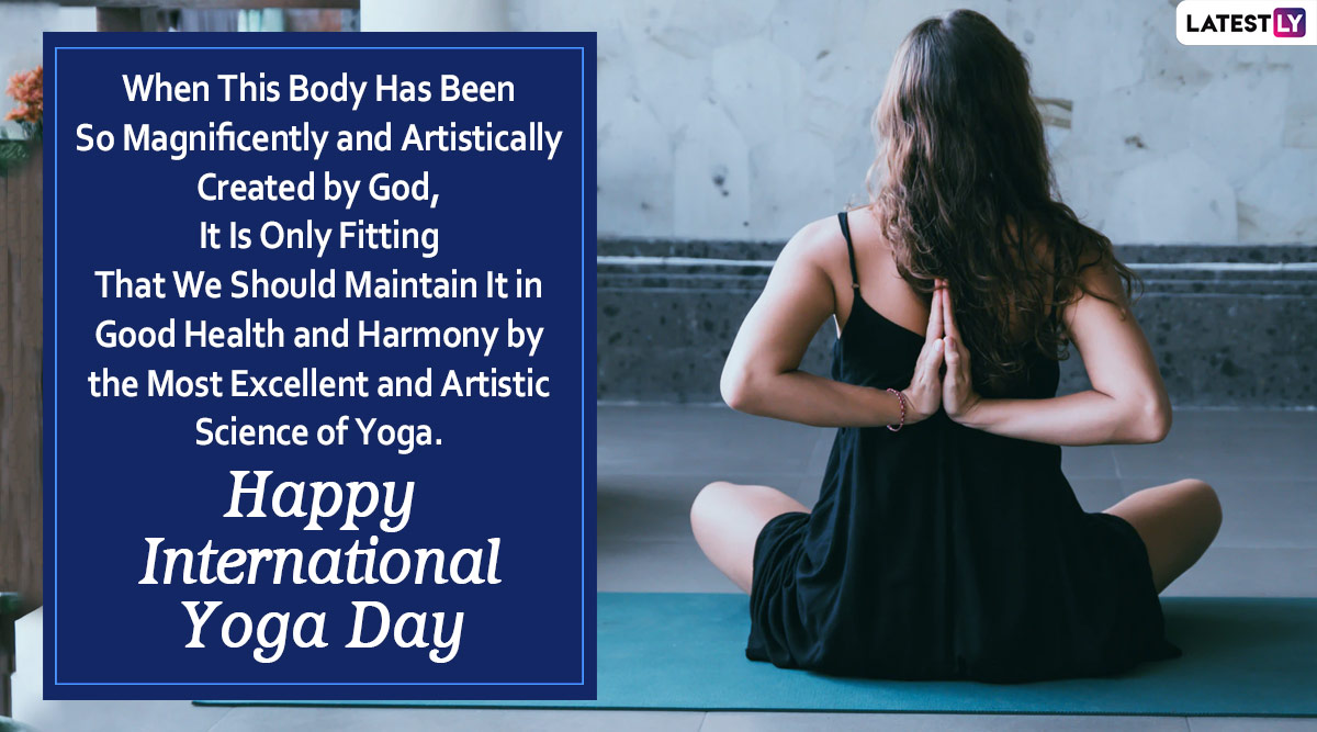 International Yoga Day 2020 Wishes Hd Images Whatsapp Stickers Happy Yoga Day Messages Nyob News