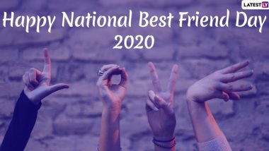 National Best Friend 2020 Day Images & HD Wallpapers for Free Download Online: Wish Happy BFF Day With WhatsApp Stickers, GIF Greetings and Hike Messages