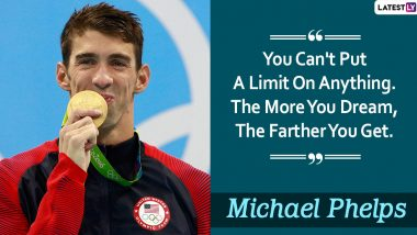 Michael Phelps Quotes With HD Images: 10 Powerful Sayings by the Olympic Swimmer on Success and Life to Celebrate His 35th Birthday