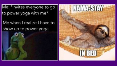International Yoga Day 2020 Funny Memes for Lazy People: These Hilarious Jokes Will Make You Do Yoga on This Day, Savasana, at Least!