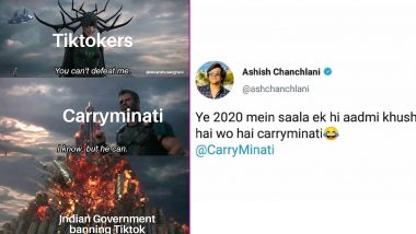 TikTok Ban Sparks CarryMinati Funny Memes and Jokes Online: Netizens Believe Ajey Nagar Must Be the Happiest Man RN After the Chinese App Is Banned! Hilarious Posts Go Viral