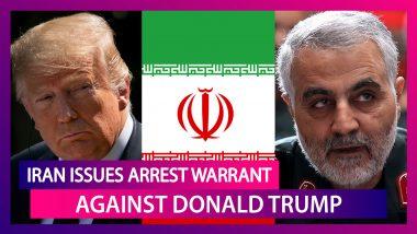 Iran Issues Arrest Warrant Against Donald Trump Over Killing Of Top Commander Qasem Soleimani