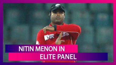 Nitin Menon Becomes Third Indian To Be Included In ICC Elite Panel Of Umpires