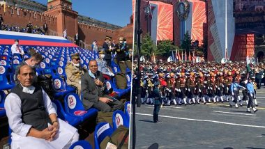 Rajnath Singh Attends Victory Day Parade in Moscow, Lauds Participation of Indian Tri-Service Contingent