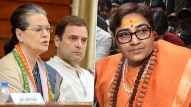 Pragya Thakur Makes Veiled Attack on Sonia Gandhi And Rahul, Says 'Son of Foreigner Can't be  Patriot'; Congress Hits Back