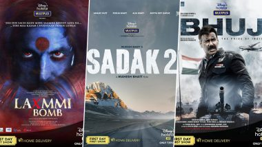 From Akshay Kumar's Laxmmi Bomb, Alia Bhatt's Sadak 2 to Ajay Devgn's Bhuj: The Pride of India, 7 Big Bollywood Films Confirm OTT Release on Disney+ Hotstar