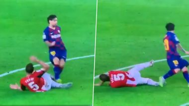 Lionel Messi Escapes Possible Red Card for Second Game in a Row During Barcelona vs Athletic Bilbao La Liga 2019–20 Clash (Watch Video)