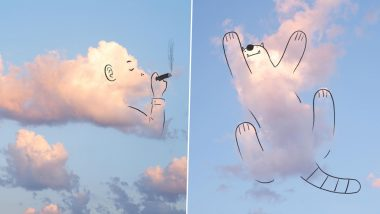 Illustrator Beautifully Outlines Clouds in the Dublin Sky Into Cute Animals, Viral Pics Inspire Twitterati to Draw Their Own Version!