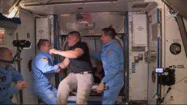 NASA Astronauts Enter International Space Station