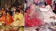 Amitabh Bachchan Celebrates 47th Wedding Anniversary With Jaya Bachchan, Shares Wedding Photos Along with an Interesting Anecdote!