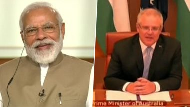 India-Australia Virtual Summit: PM Narendra Modi, Scott Morrison Hold Talks Online Amid COVID-19 Pandemic, Discuss Plans to Boost Ties in Healthcare, Trade & Defence Sectors