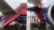 IndiGo Aircraft Hit by Ladder of SpiceJet at Mumbai Airport Due to Strong Winds, Engine Cowling and Wings Damaged