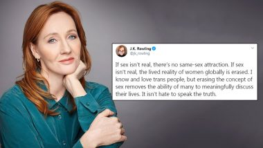 Harry Potter Author JK Rowling Faces Backlash For Her Insensitive and Offensive Tweet on Transgender People