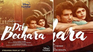 Dil Bechara: Sushant Singh Rajput's Last Movie with Sanjana Sanghi Confirmed to Release on Disney+ Hotstar, Will Start Streaming From July 24, 2020
