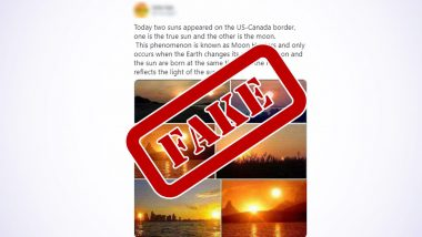 Two Suns Appear on The US-Canada Border? On Annular Solar Eclipse 2020, Old Pics of Hunter's Moon Go Viral, Once Again! Know the Truth Behind This Fake Claim