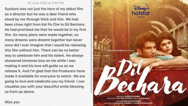 Mukesh Chhabra on Dil Bechara OTT Release: Sushant Singh Rajput's Love Will Guide Us As We Release It