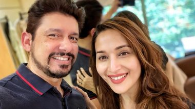 Madhuri Dixit Experiments Hubby Sriram Nene's Hairstyle, Says 'Lockdown Has Taught Us to Be Self-Reliant'