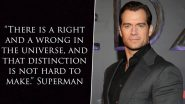 Henry Cavill Quotes Superman To Show his Support for #BlackOutTuesday Movement
