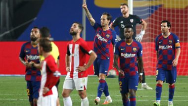 Barcelona 1–0 Athletic Bilbao, La Liga 2019–20 Match Result: Ivan Rakitic Guides Catalan's to Narrow Win, Fans Praise Riqui Puig's Impact (Watch Goal Video Highlights)