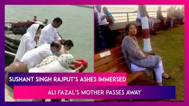 Sushant Singh Rajput's Sister Pens Emotional Note As His Ashes Are Immersed, Ali Fazal's Mother Dies