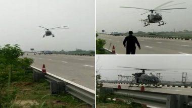 IAF Helicopter Cheetah Makes Emergency Landing on Highway in Haryana's Sonepat