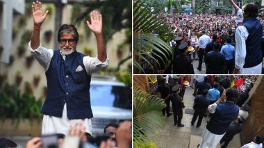 Amitabh Bachchan Reminisces Meeting Fans Outside His Residence With a Humble Tweet (View Pics)