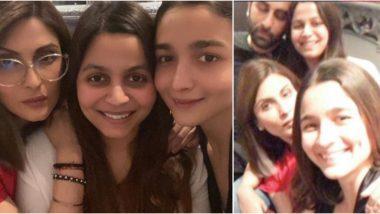 Ranbir Kapoor and Alia Bhatt Spotted Enjoying Family Time in Riddhima Kapoor's Latest Instagram Post (View Pics)