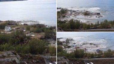 Landslide in Norway Takes Away Part of Alta Village Into Sea, Dramatic Video Has Netizens Saying Even Earth Wants to Escape 2020