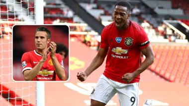 Robin Van Persie Congratulates Anthony Martial for Breaking Manchester United's Seven-Year Hat-Trick Drought (See Post)