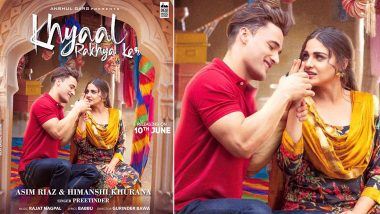 Khyaal Rakhya Kar Poster Out: Himanshi Khurana Looks Totally Smitten By Beau Asim Riaz In Their Second Music Video (View Pic)