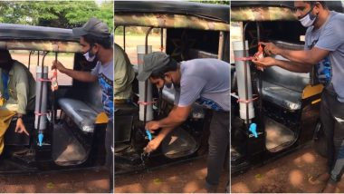 Kerala Auto-Rickshaw With Flowing Tap Water and Soap for Passengers to Wash Hands Impresses Netizens, Video Goes Viral
