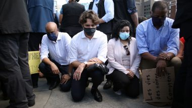 Justin Trudeau Attends Anti-Racism Rally and Takes a Knee in Solidarity With Demonstrators in Canada