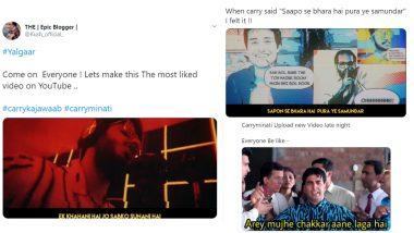 CarryMinati Yalgaar Funny Memes & Jokes Trend on Twitter As Comedian Ajey Nagar Drops New Rap YouTube Video!