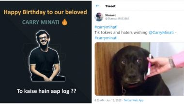 CarryMinati Birthday Wishes Trend Online, Netizens Share Funny Memes and Pics to Wish Ajey Nagar on His 21st Birthday