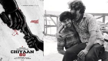Chiyaan 60 Poster: Vikram and Son Dhruv Vikram's Gangster Film Gets a Dark, Bloody and Intriguing First Look Tease (View Pic)