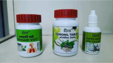AYUSH Ministry Asks Patanjali to Provide Details of COVID-19 Treatment Medicines Swasari_Vati, and Coronil, Orders to Stop Advertising