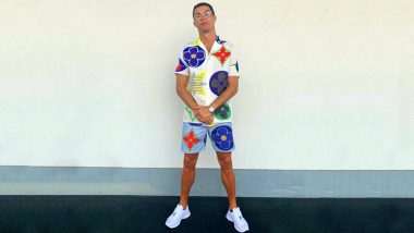 Cristiano Ronaldo Trolled by Teammates For Posing in Colourful Outfit as CR7 Dons Matching Shirt& Shorts Combo