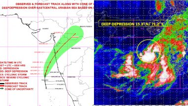 Cyclone Nisarga Live Tracker Map: Check Movement, Forecast and Path of Severe Cyclonic Storm Which Will Make Landfall Near Alibaug on June 3