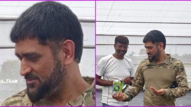 MS Dhoni New Look Photo Surfaces on Twitter, Check Out CSK Captain's Latest Beard Style