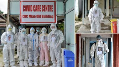 Coronavirus Frontline Workers in Arunachal Pradesh Hospital Pin Their Photos to PPE Kits to Give a Human Touch to Patients in Distress (See Pictures)
